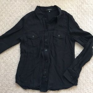 Aritzia Black Button up